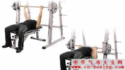 【史密斯卧推】主要锻炼胸肌
